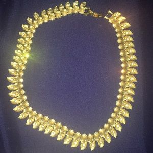 Vintage Gold Tennis Rhinestone Necklace